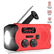 #LightningDeal [Upgraded Version] RunningSnail Emergency Weather AM/FM NOAA Solar Powered Wind up Radio with SOS, 2000mAh Power Bank for Cell Phone and LED Flashlight