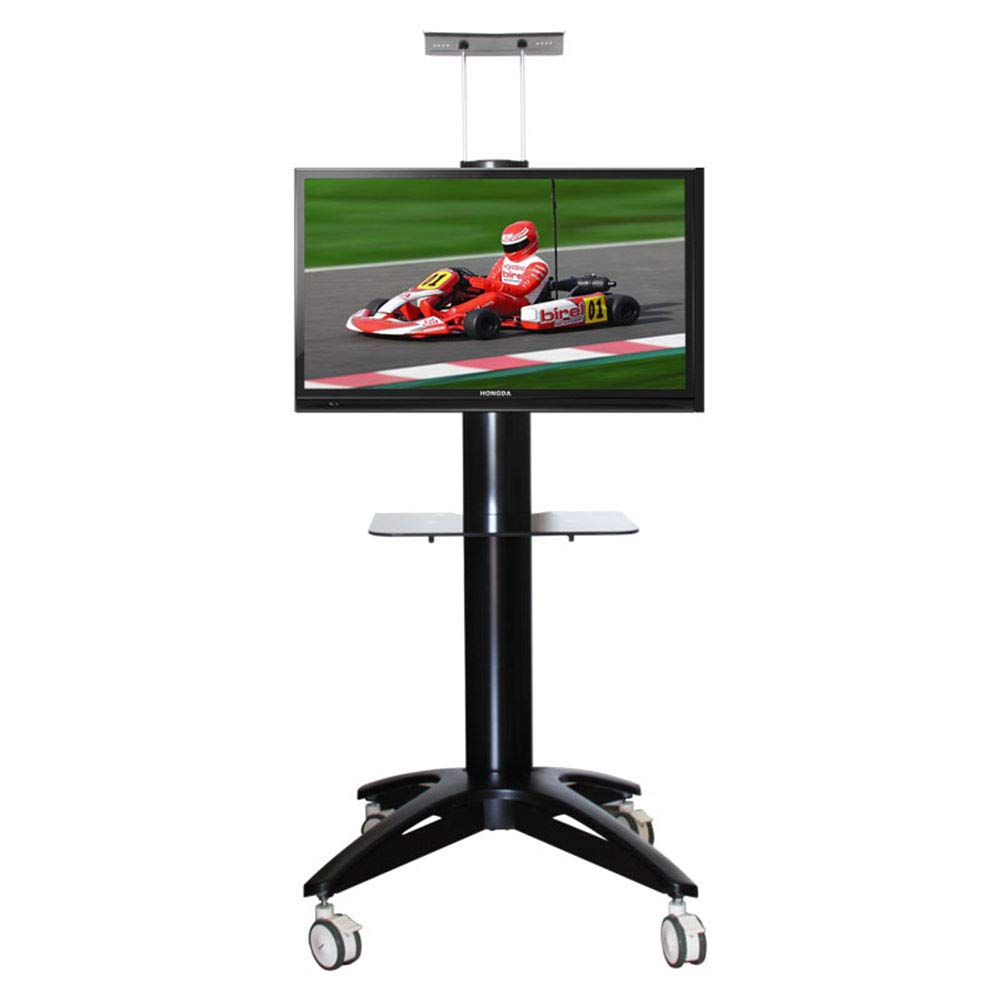 XUEXUE Universal TV Cart,Floor Tv Stand Mount,360º of Swive, for 32-65 Inch,LCD LED Tvs,with Wheels Mobile,Bedroom Living Room, Conference Office, Reception Hall, Exhibition