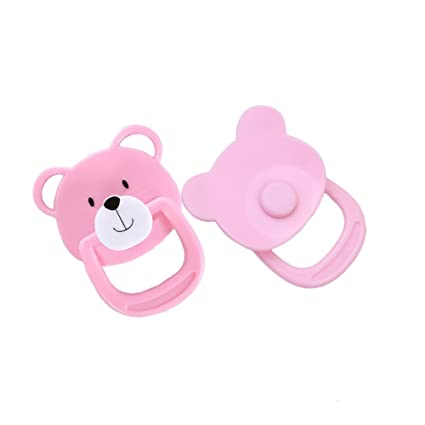 Per Lovely Magnet Pacifier Cute Bear Magnetic Dummy Nipple Reborn Doll Accessories For Newborn Baby Dolls 4 Styles Available-2PACK-B