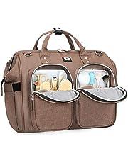 Luiertas met waterdichte veranderende mat en 2 kinderwagenhaken verstelbare schouderriem multifunctionele schoudertas reistas voor onderweg