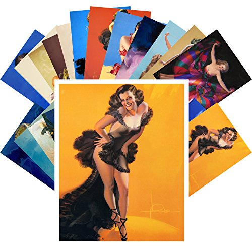 Pinup Postcard Pack 24pcs Vintage Sexy Girls Night Dance Armstrong -