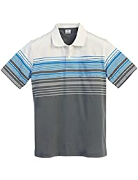 Gioberti Mens Striped Short Sleeve Polo Shirt with Breast Pocket