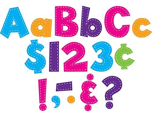 Teacher Created Resources Multi Bright Stitch Fun Font 4-Inch Letters (Bright Stitch)
