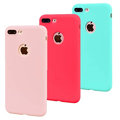 coque iphone 7 plus rose rouge