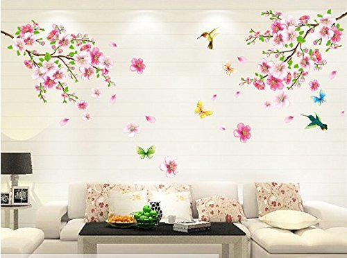 salala-pink-cherry-blossom-tree-wall-decal-flower-floral-wall-sticker-with-butterfly-vinyl-art-wall-