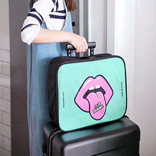 Bag Boarding Airplanes Softmusic Green Travel Mouth Green Pouch Cartoon Mint Outdoor Mint fwwHRx