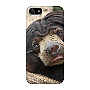 Luoxunmobile333 Iphone 5/5s Hybrid Cases Covers Bumper Funny Bear Reflecting
