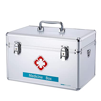 First Aid Kit, Lockable Medicine Box, Security Lock Medicine