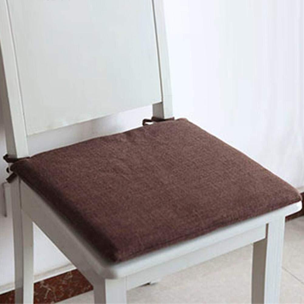 Coussin de Chaise D/éhoussable Respirant Coussin Japonais Coton et lin Hyper Moelleuses Coussin de Si/ège Ventil/é Tatami Coussin 45 x 45cm Id/éal pour bureau int/érieur ext/érieur