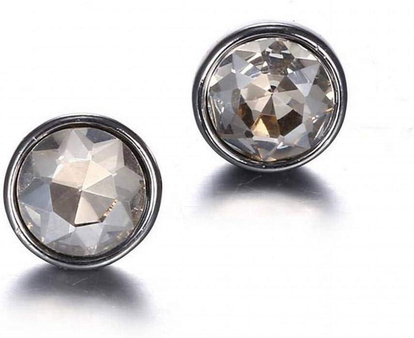 BinLZ Joyas de Moda Color de Moda Cristal Pendientes de Piedras Preciosas, Gris
