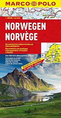 MARCO POLO Länderkarte Norwegen 1:800.000