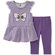 Kids Headquarters Baby Girls Tunic Set-Transitional, Violet, 12M
