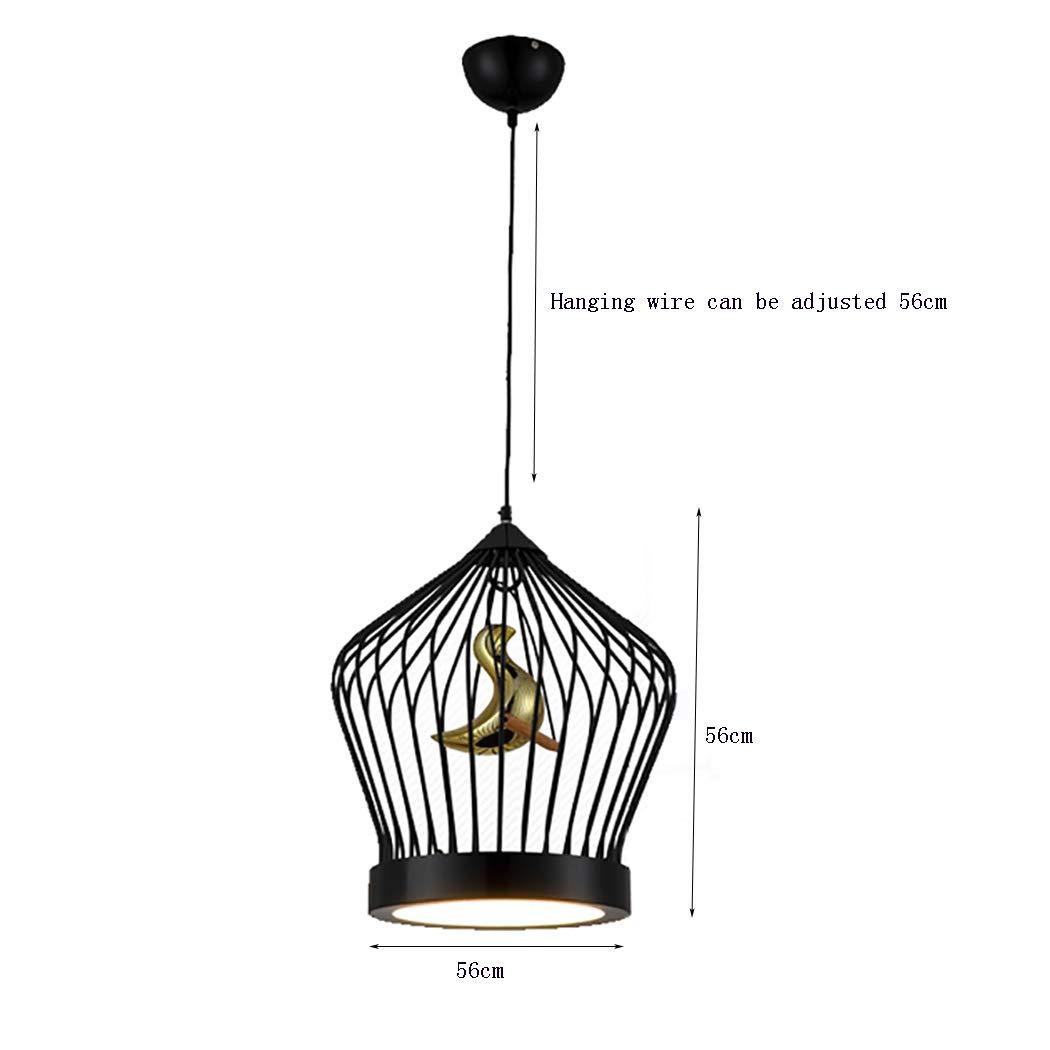 BEGRHT Lámparas De Araña Led Moderna Colgante De Jaula De Pájaro ...