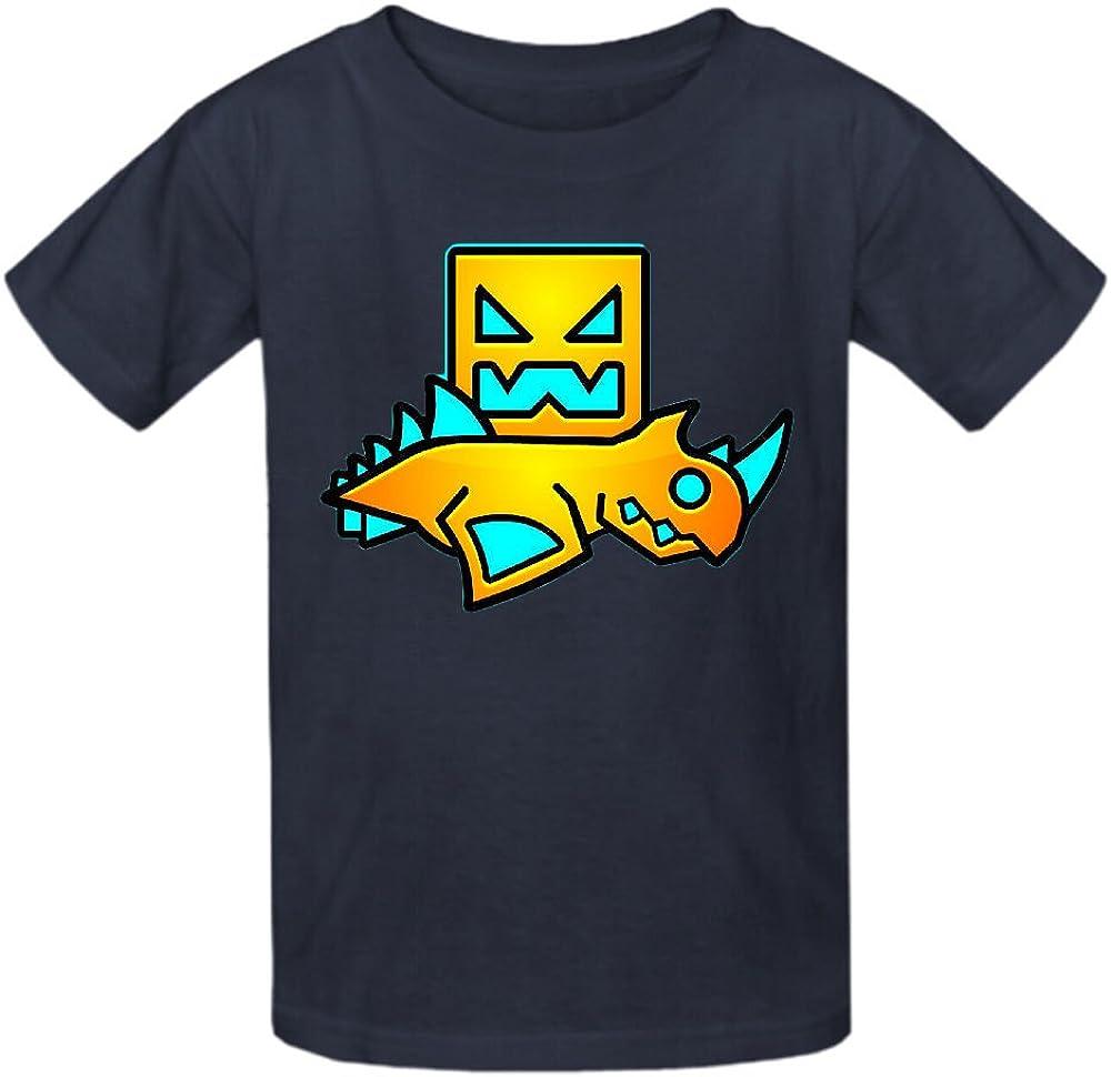 Toypop Geometry Dash Boys and Girls Cotton Crewneck Tshirts Customized
