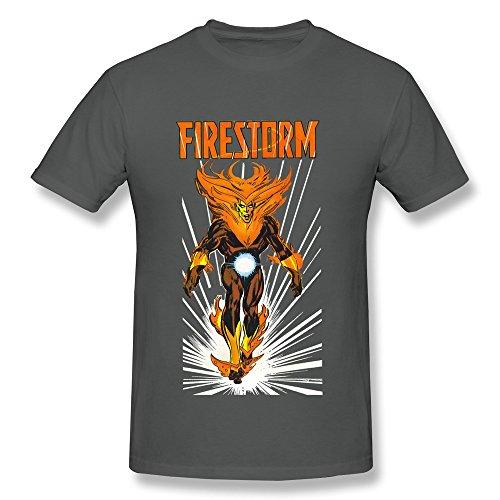- PASSIONC Men's Ring Of Firestorm Dc Comics Firestorm T-shirt DeepHeather XXL