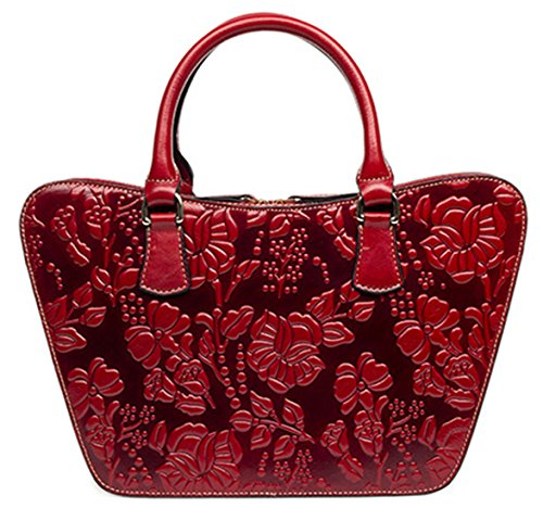 Sea Beach Summer Shoulder Red Bag Leather Keshi Cute Tote Classic Straw Handbag qxXwXF1RY