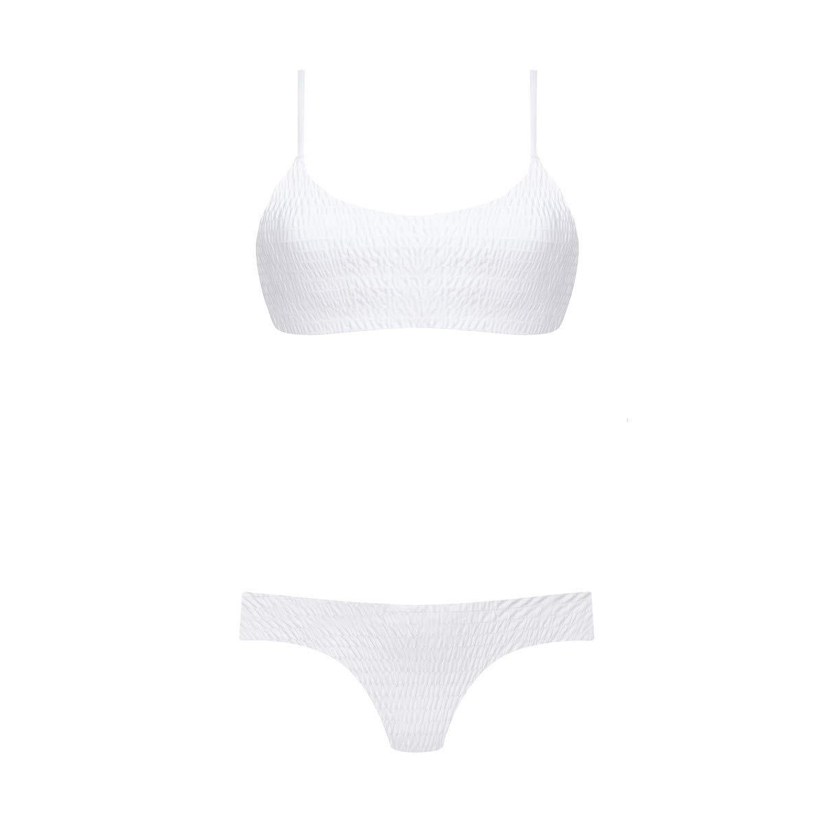 Bikini Samara - Weiß Ruched Top & Cheeky Bottom - Größe Extra Large B07PRMXN4L Bikinihosen eine große Vielfalt von Waren