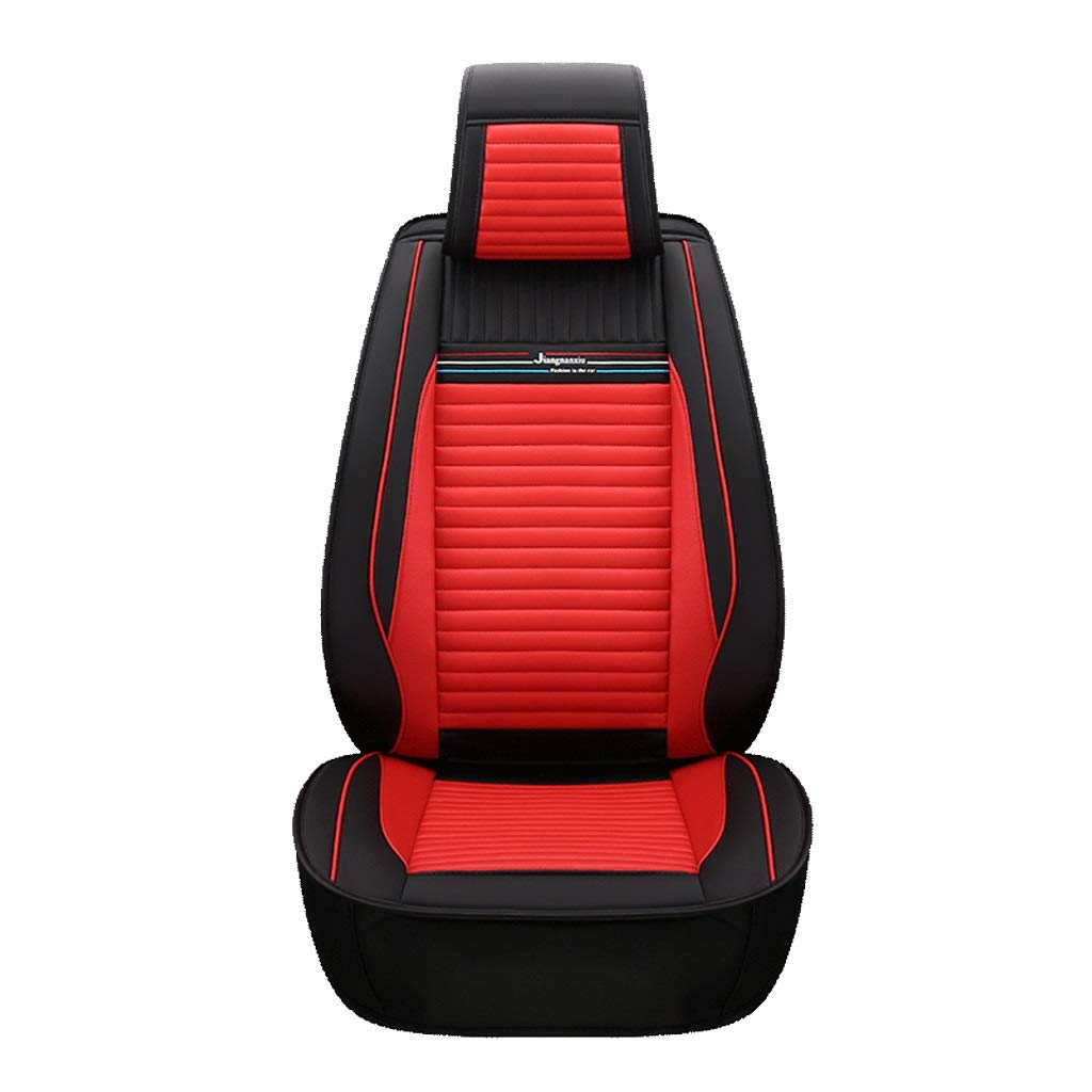 TUSOSNC Seat Covers for Cars Full Leather Car Seat Covers Full Set - for 5 Seats Car Automotive Universal Fit Seat Covers Seat Cushion Cover,Car Seat Covers for Year Round
