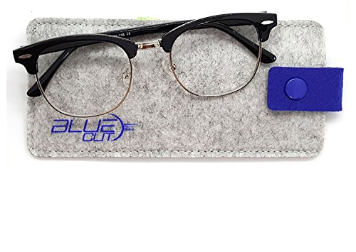 Blue Light Blocking Glasses – Anti-Fatigue Computer Glasses Prevent Headaches Gamer ()