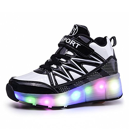 FG21ds21g LED Light Roller Skates Sneakers Night Fashionable Sports Shoes for Girls Boys