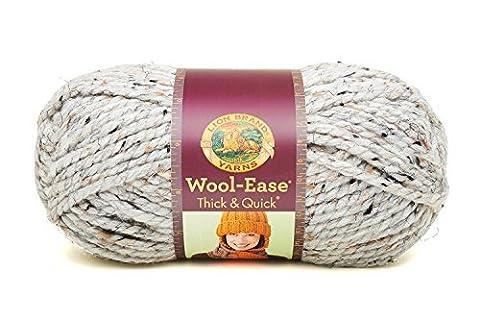 Lion Brand Yarn Company 1-Piece Wool-Ease Thick and Quick, Grey Marble by Lion Brand Yarn Company - Quick Yarn Barley
