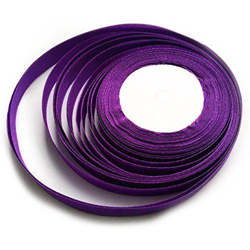 KGS Satin Ribbon | 25 Yards x 1/2 inch | 1 Roll/Pack (Purple)