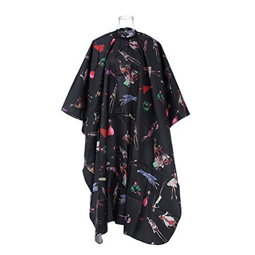Hair Cutting Apron Anself Salon Hairdressing Cape Waterproof Cloth Barber Haircoloring Capes (1#)