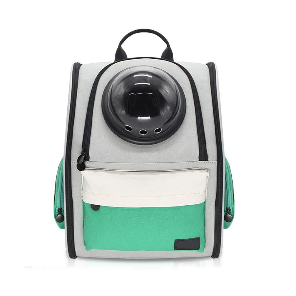 LZRZBH Cat Space Bag, Pet Bag out Portacellulare per Cani e Gatti (colore   verde)