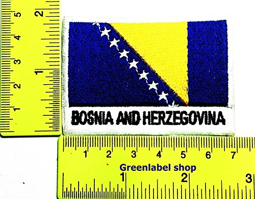 Each country's flag Bosnia and herzegovina flag Patch Logo Sew Iron on Embroidered Appliques Badge Sign Costume Send Free (Bosnia And Herzegovina Costumes)