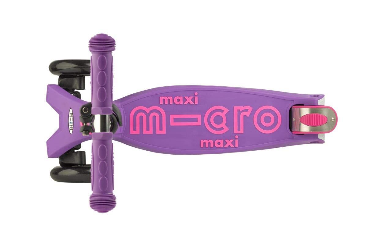 Micro Maxi Deluxe, Patinete 3 Ruedas, 5-12 Años, Carga Máx 70kg, Peso 2,5kg (Lila)