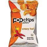 Popchips Potato Chips, Crazy Hot Potato Chips, 12 Count (5 oz Bags), Gluten Free Potato Chips, Low Fat, No Artificial Flavoring, Kosher