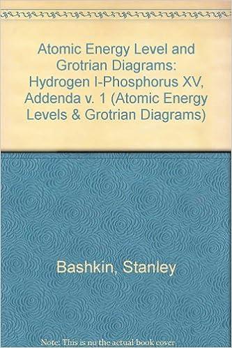 atomic energy-level and grotrian diagrams: hydrogen i-phosphorus xv :  addenda (atomic energy levels & grotrian diagrams): stanley bashkin, john  o ,