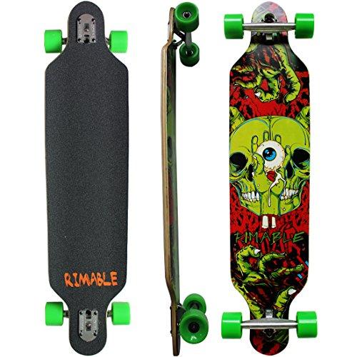 Rimable Drop-through Longboard (41 Inch, Hand Skull)