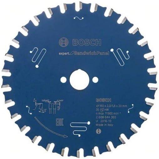 0 V Size Color: 0 W BOSCH 2608644365 Hoja de sierra circular EX SH H H 160 x 20 mm con 30 dientes