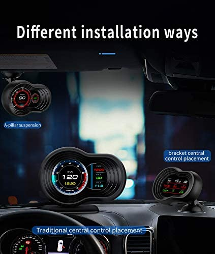 iKiKin HUD Head Up Display OBD2 GPS Dual USB Interface for All Cars Car HUD Display