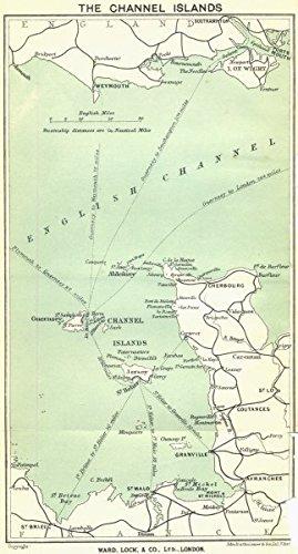 CHANNEL ISLANDS: Jersey Guernsey Sark Cotentin peninsula. WARD LOCK;1925 map - Map Jersey Guernsey