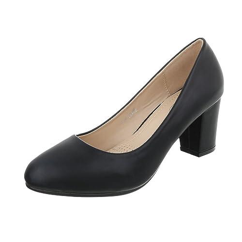 Ital-design Femme Fermée, Couleur Noire, Taille 40