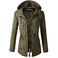 TOP LEGGING TL Women's Versatile Militray Anorak Parka Hoodie jackets with Drawstring