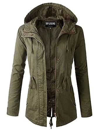 46648b69 TOP LEGGING TL Women's Versatile Militray Anorak Parka Hoodie Jackets with  Drawstring