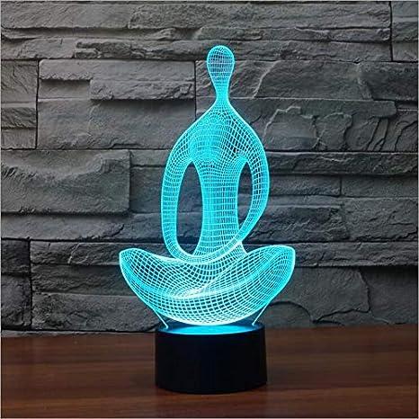 Yoga 3D Night Light Led Lamp Kids Toys Decoración Lámpara De ...