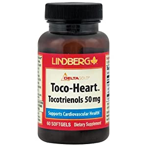 Lindberg Toco-Heart Tocotrienols 50 Mg, 60 Softgels