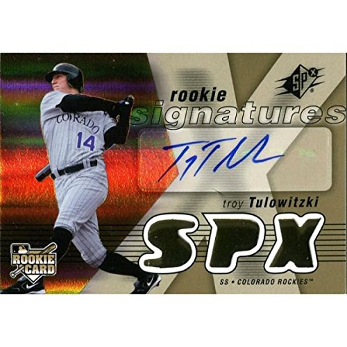 Troy Tulowitzki Autographed 2007 Upper Deck SPx Rookie Card - Autographed Baseball Cards