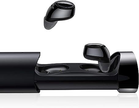 Auriculares Bluetooth, AINOPE Auriculares Inalámbricos Auriculares Manos Libres con Microfono y Inicio Automáticoy Emparejamiento Cancelación de Ruido para iOS Samsung Sony con Caja de Carga Portátil: Amazon.es: Electrónica