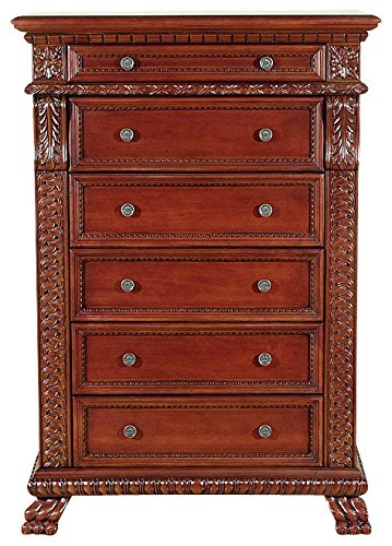 Cherry Empire Tallboy 6 Drawer Chest of Drawers Dresser