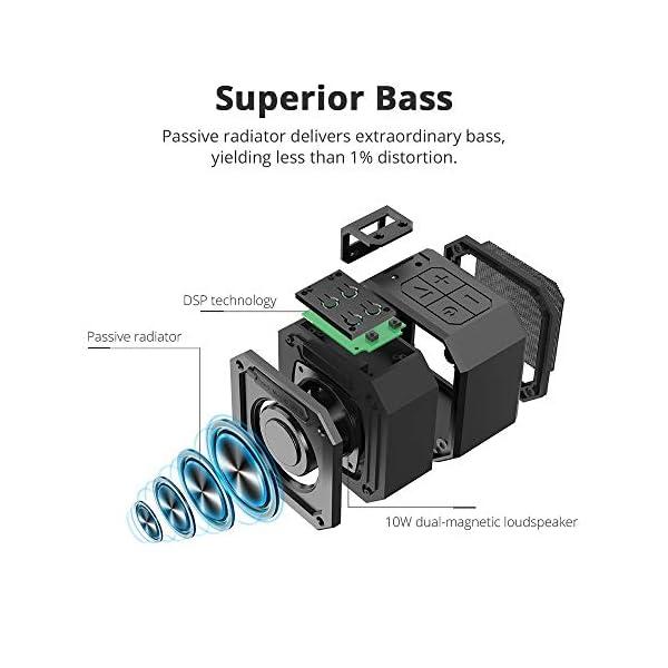 Enceinte Bluetooth Waterproof, Tronsmart Haut Parleur Bluetooth Portable, Autonomie 24H, Technologie TWS et Basses Puissantes, étanchéité IPX7, pour Téléphone et Tablettes, l'extérieur Les Voyages 2