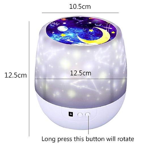 DSHRTY Luz de la Noche Colorido Proyector de Cielo Estrellado ...