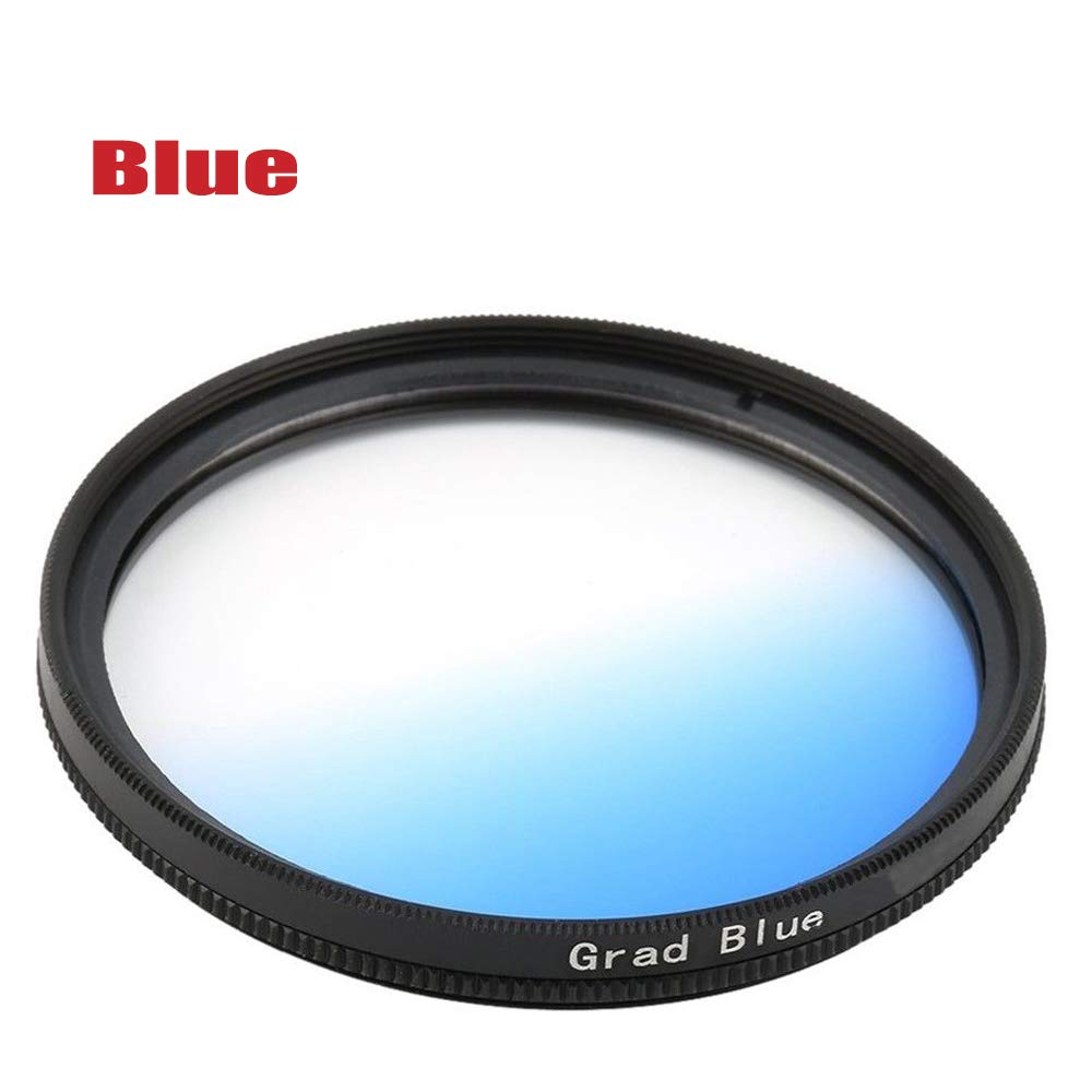 Yunchenghe Blue Gradient Filter for Canon Nikon Sony All Brands of 40.5mm Digital SLR Camera Lens