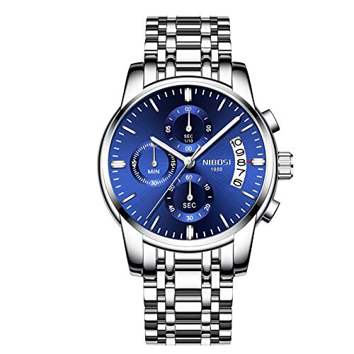 Men's Watches Luxury Fashion Casual Dress Chronograph Waterproof Military Quartz Wristwatches for Men Stainless Steel Watch