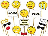 Add some fun to your upcoming party with this huge collection of Emoji party photo booth props! Make your party day fun and memorable with these trendy Emoji photo booth prop. Note that you will receive ONLY A POSTER. You have to mount it you...