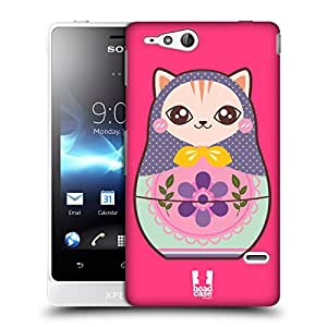 Head Case Designs Cat Animal Nesting Doll Hard Back Case Cover for Sony Xperia go ST27i